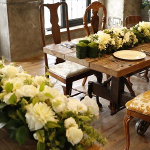 ヴァンス東京リゾート・ウェディング・パーティー リバーサイド テーブル装花